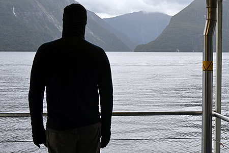 Justin Sytsma, Fiordland Explorer on Doubtful Sound, New Zealand.